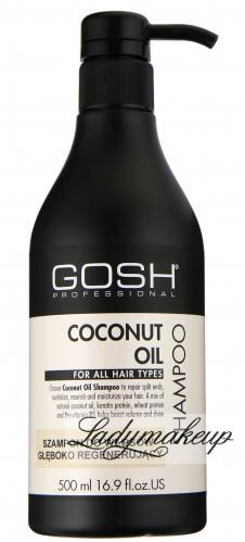 GOSH - COCONUT OIL SHAMPOO - Szampon do włosów głęboko regenerujący z olejem kokosowym - 500 ml