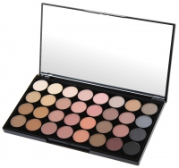 MAKEUP REVOLUTION - FLAWLESS MATTE ULTRA EYESHADOWS - Paleta 32 cieni do powiek