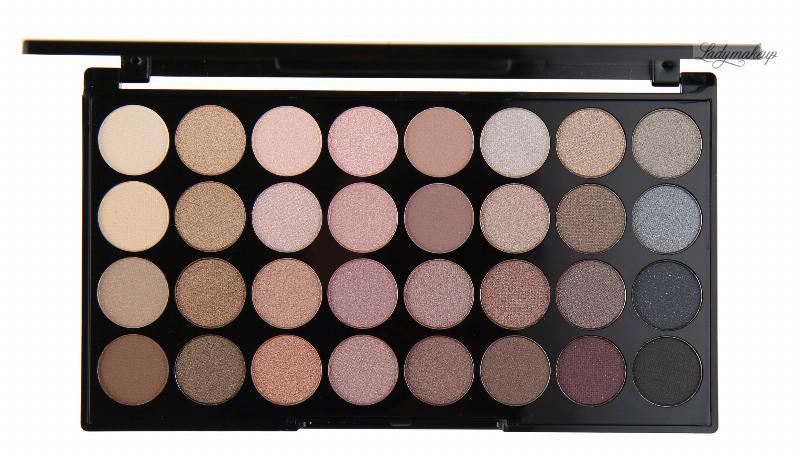 MAKEUP REVOLUTION - BEYOND FLAWLESS ULTRA EYESHADOWS - Palette of 32 eyeshadows