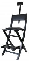Krzesło wizażysty - CZARNE