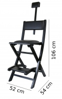 Make-up Chair - BLACK
