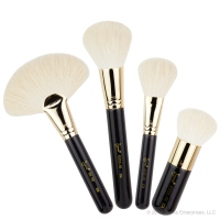 Sigma - FACE KIT - 18K GOLD PLATED - Extravaganza - Set of 4 luxury make-up brushes + case