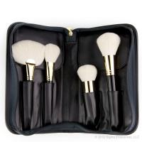 Sigma - FACE KIT - 18K GOLD PLATED - Extravaganza - Zestaw 4 luksusowych pędzli do makijażu + etui