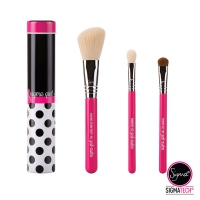 Sigma - COLOR POP Brush Kit - Zestaw 3 pędzli do makijażu w metalowym etui