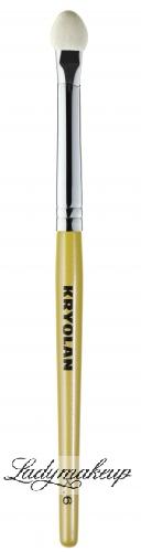 KRYOLAN - K. 6 Small - Aplikator do cieni (krótki trzonek)