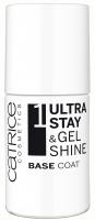 Catrice - 1 Ultra Stay & Gel Shine - BASE COAT - Baza przedłużająca trwałość lakieru (STEP 1)