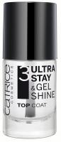 Catrice - 3 Ultra Stay & Gel Shine - TOP COAT - Lakier nawierzchniowy (STEP 3)