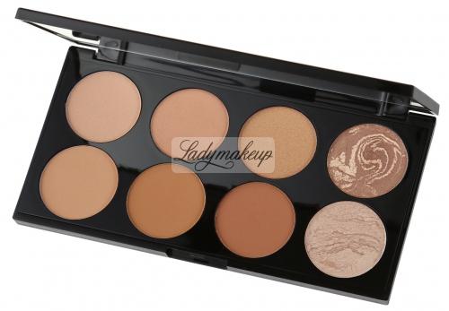 MAKEUP REVOLUTION - Ultra Bronze Palette - Paleta 8 bronzerów - ALL ABOUT BRONZE
