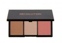 MAKEUP REVOLUTION - Iconic - BLUSH BRONZE & BRIGHTEN - Zestaw do konturowania twarzy - FLUSH - FLUSH