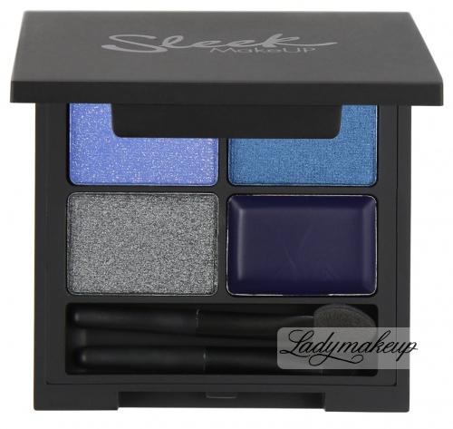 Sleek - i-Quad Eyeshadow & Eyeliner - Zestaw 3 cieni + eyeliner - MIDNIGHT BLUES - 332 (Edycja limitowana)