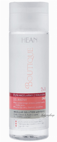 HEAN - BOUTIQUE - Micellar solution with tonic - DELIKATNY płyn micelarny z tonikiem