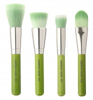 Bdellium tools - Green Bambu Series - Foundation 4pc. Brush Set - Zestaw 4 pędzli do podkładów