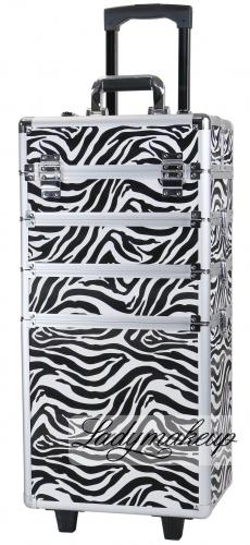 KUFER KOSMETYCZNY NA ROLKACH - TC-004 ZEBRA (zebra)
