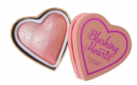 I Heart Revolution - Blushing Hearts Triple Baked Blusher - Róż do policzków - PEACHY PINK KISSES - PEACHY PINK KISSES