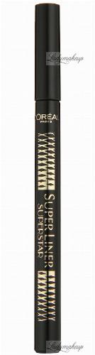 L'Oréal - SUPER LINER SUPERSTAR - Liner z elastyczną końcówką - BLACK
