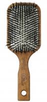 GORGOL - NATUR - Pneumatyczna szczotka do włosów z naturalnego włosia + ROZCZESYWACZ - 15 18 142
