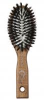 GORGOL - NATUR - Pneumatyczna szczotka do włosów z naturalnego włosia + ROZCZESYWACZ - 15 01 142