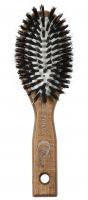 GORGOL - NATUR - Pneumatyczna szczotka do włosów z naturalnego włosia + ROZCZESYWACZ - 15 01 142 - C - C
