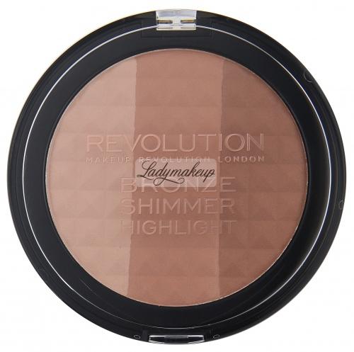 MAKEUP REVOLUTION - BRONZE SHIMMER HIGHLIGHT - Puder brązujący