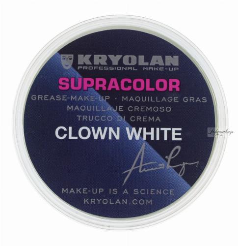 Kryolan Supracolor Clown White Tlusta Farba Do Malowania Twarzy