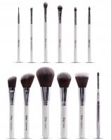 Nanshy - MASTERFUL COLLECTION PEARLESCENT WHITE - Set of 12 make-up Brushes - MC-SET-001