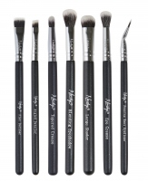 Nanshy - THE EYE BRUSH SET ONYX BLACK - Zestaw 7 pędzli do makijażu - EB-SET-002
