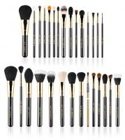 Sigma - COMPLETE KIT - 18K GOLD PLATED - Extravaganza - Zestaw 29 luksusowych pędzli do makijażu + czarne etui