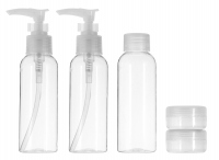 Inter Vion - Travel set of plastic cosmetic containers