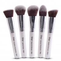 Nanshy - GOBSMACK GLAMOROUS PEARLESCENT WHITE - Zestaw 5 pędzli do makijażu - FB-SET-002