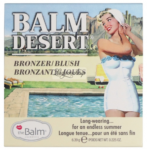 THE BALM - BALM DESERT BRONZER/ BLUSH - Bronzer/ róż do twarzy
