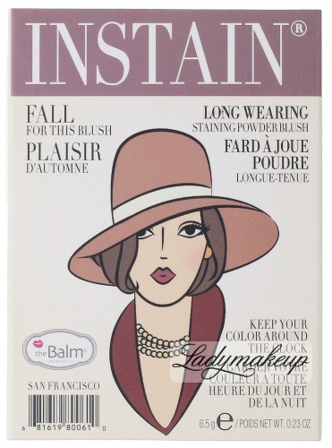 THE BALM - Instain - Staining powder blush - PINSTRIPE - Róż do policzków