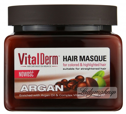 VitalDerm - HAIR MASQUE ARGAN - For Colored, Bleached and Straightened hair - REF: 1718