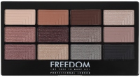 FREEDOM - PRO 12 STUNNING SMOKES - Palette of 12 eyeshadows