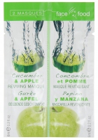 Montagne Jeunesse - Cucumber & APPLE REVIVING MASQUE - Witalizująca maseczka do twarzy ogórek i jabłko (2 x 6 ml)