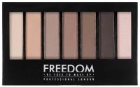 FREEDOM - PRO SHADE & BBRIGHTEN MATTES KIT 1 - Paleta 6 cieni do powiek + rozświetlacz