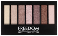 FREEDOM - PRO SHADE & BRIGHTEN SHIMMERS KIT - Palette of 6 eyeshadows + highlighter