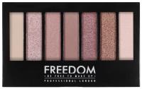 FREEDOM - PRO SHADE & BRIGHTEN STUNNING ROSE KIT - Paleta 6 cieni do powiek + rozświetlacz