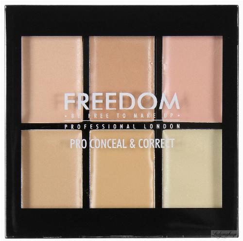 FREEDOM - PRO CONCEAL & CORRECT PALETTE - Paleta 6 korektorów