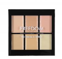 FREEDOM - PRO CONCEAL & CORRECT PALETTE - Paleta 6 korektorów - LIGHT - LIGHT