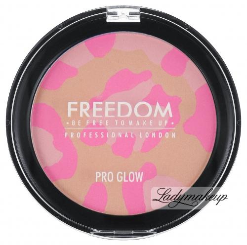 FREEDOM - PRO GLOW - Róż do policzków - mozaika - PINK CAT