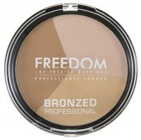 FREEDOM - BRONZED PROFESSIONAL PRO BRONZE - Zestaw do konturowania twarzy - WARM LIGHTS