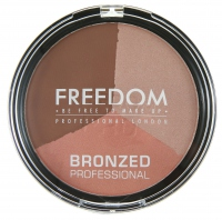 FREEDOM - BRONZED PROFESSIONAL PRO BRONZE - Zestaw do konturowania twarzy - SHIMMER LIGHTS