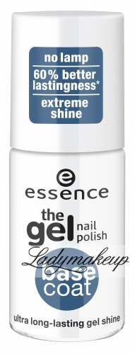 Essence - The gel nail polish BASE COAT - Żelowy lakier bazowy - 51558
