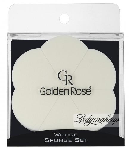 Golden Rose - WEDGE SPONGE SET - Zestaw 6 gąbek do podkładu - K-FIR-15