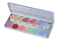 KRYOLAN - AQUACOLOR - Paleta 12 farb wodnych do malowania twarzy - ART. 1104 - P - P