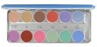 KRYOLAN - AQUACOLOR - Paleta 12 farb wodnych do malowania twarzy - ART. 1104