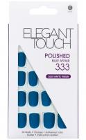 ELEGANT TOUCH - Paznokcie z samoprzylepną taśmą - MATOWE - efek hybrydy - POLISHED BLUE AFFAIR 333 - 40 13 363