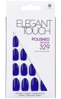 ELEGANT TOUCH - Paznokcie z samoprzylepną taśmą - efek hybrydy - POLISHED INK BLUE 329 - 40 13 359