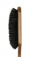 GORGOL - NATUR - Pneumatyczna szczotka do włosów z naturalnego włosia + ROZCZESYWACZ - PELIKAN - 15 38 142