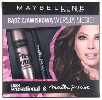 MAYBELLINE - ZESTAW - LASH sensational MULTIPLYING MASCARA & Master precise liquid eyeliner - Maskara + eyeliner